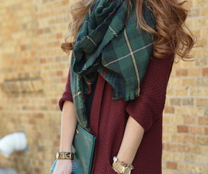 fashion, scarf, and fall image