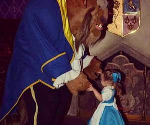 disney, belle, and beast image