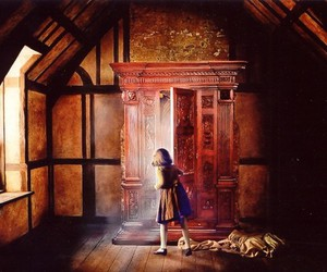 narnia, Lucy, and wardrobe image