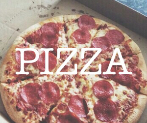 food, grunge, and pizza image