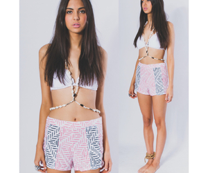 bikini, girl, and pink image