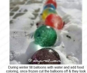 balloons, winter, and christmas image