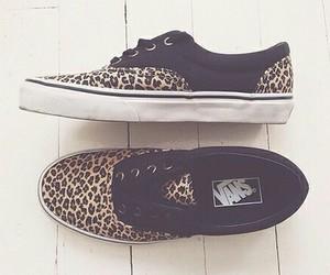 vans, leopard, and shoes image