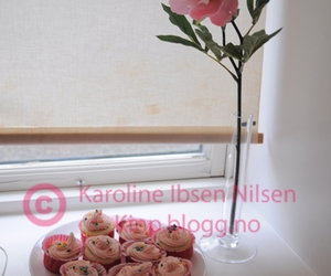 cupcakes, flower, and pink image
