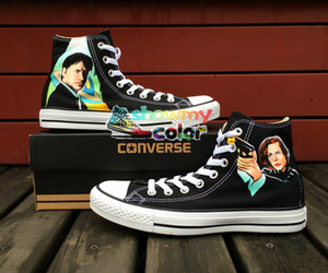 custom converse, high top converse, and x-files converse image