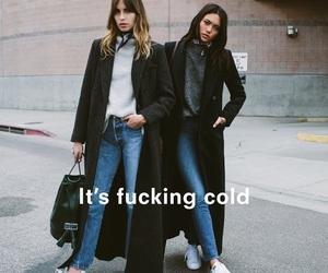 fashion, girl, and cold image