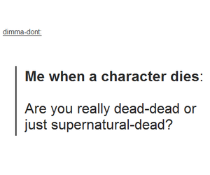 supernatural, character, and dead image