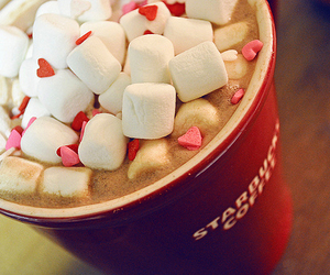 starbucks, coffee, and marshmallow image
