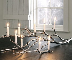 candle and branches image