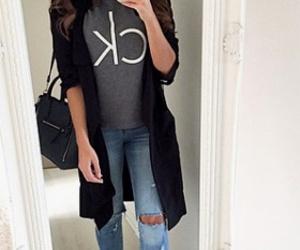 bag, girl, and Calvin Klein image