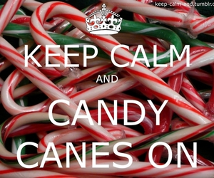 candy canes, keep calm, and xmas image