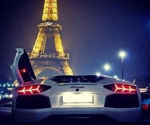 paris, car, and Lamborghini image