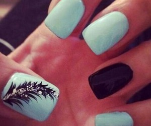 nails, cute, and blue image