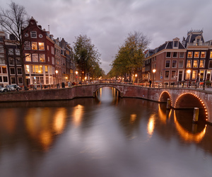 amsterdam, blue, and bridges image