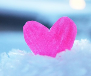 heart, pink, and snow image