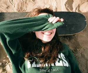 girl, skate, and smile image