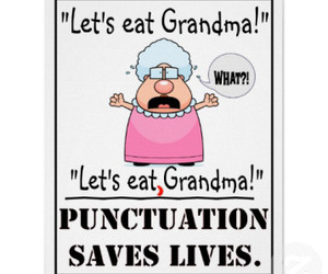 funny, grandma, and punctuation image