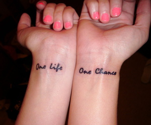hands, tattoo, and one life image