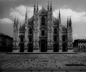 architecture, black and white, and gothic image