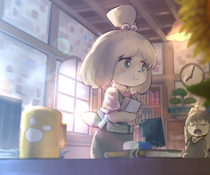 animal crossing and isabelle image