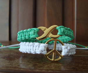 peace, bracelet, and infinity image