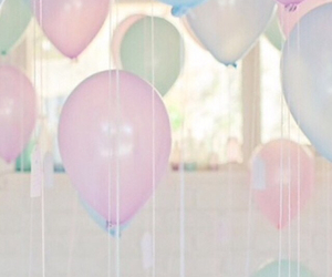 balloon, pale, and pink image