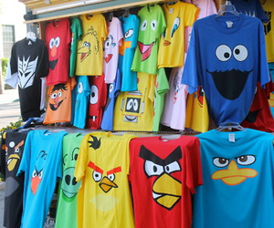 angry birds, t-shirt, and shirt image
