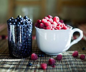 fruit, food, and raspberry image