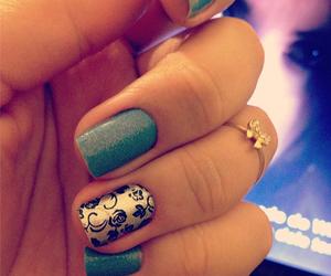 flower, nail art, and nails image
