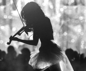 violin, music, and black and white image