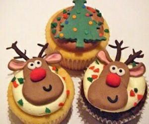 cupcake, christmas, and reindeer image