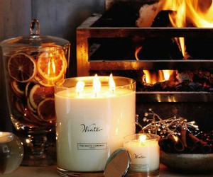 candle, winter, and autumn image