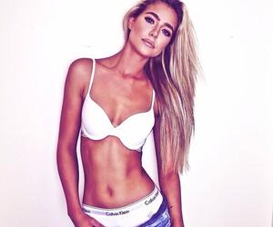 girl, Calvin Klein, and model image