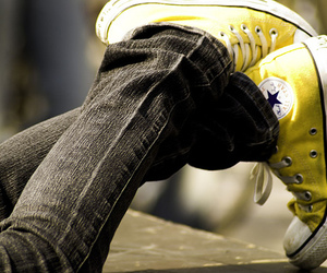 converse, yellow, and shoes image