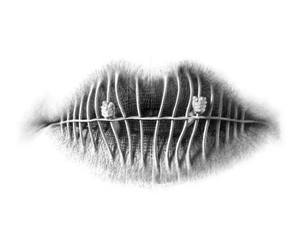 lips, art, and mouth image
