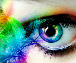 eyes and color full image