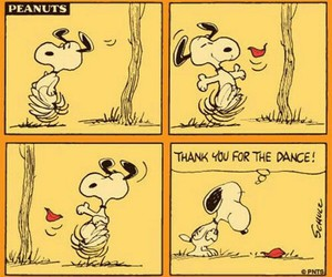 snoopy, peanuts, and dance image
