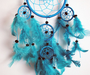 blue, Dream, and dreamcatcher image