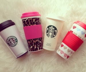 starbucks, coffee, and pink image