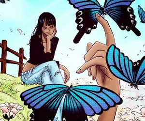 one piece, strawhat pirates, and nico robin image