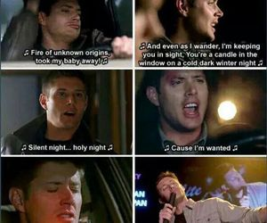 dean winchester, funny, and singing image
