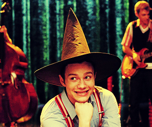 chris colfer, glee, and wicked image