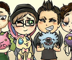 fall out boy, pokemon, and FOB image
