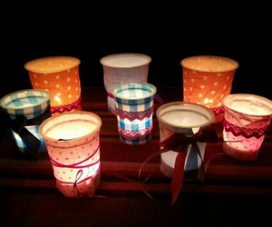 candle, lights, and crafting image