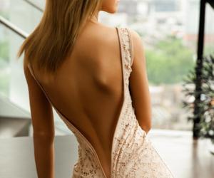 gala, lace, and long dress image