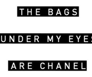 quote, chanel, and bag image