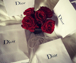 dior, rose, and red image