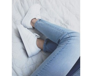shoes, girl, and jeans image