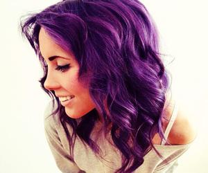hair, purple hair, and purple image