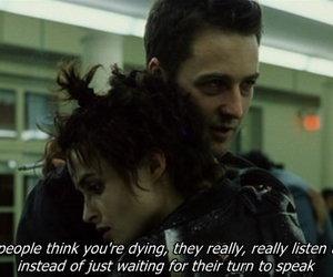 fight club, edward norton, and marla singer image